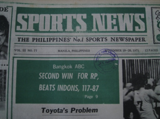 """Sports News"" Newspaper"