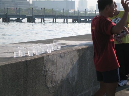 How To Pick-Up Water Cup While Running