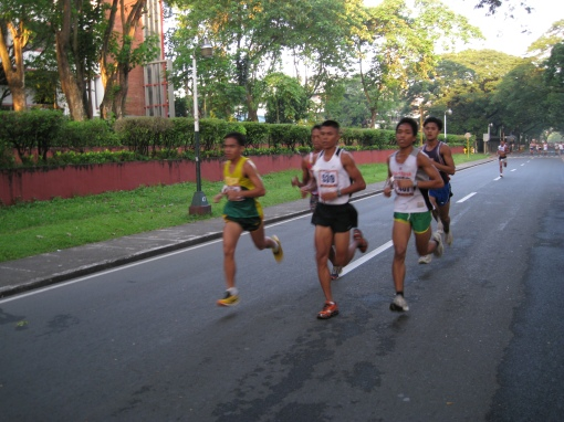 Gerald Sabal (Middle) at the 5-Mile Run