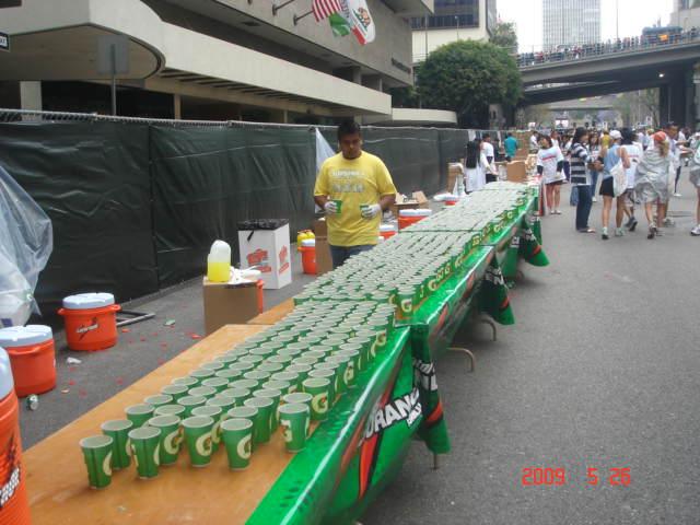 Water Station @ 2009 LA Marathon