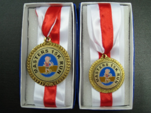 Top 3 Overall Medal (Bigger) & Top 3 In Every Age Category Medal (Smaller)