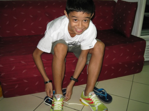 The Happy Duncan While Wearing His Newton Shoes