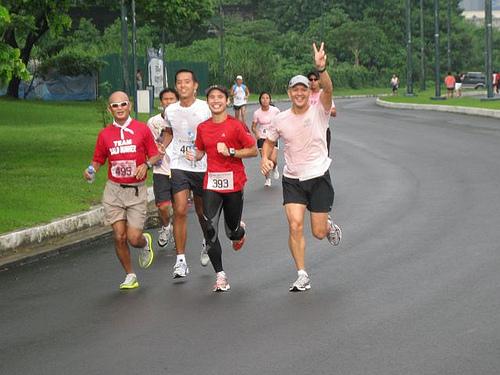 BR, Lester, Mari, Jonel Before the Halfway Mark (Photo Courtesy of The Bull Runner)