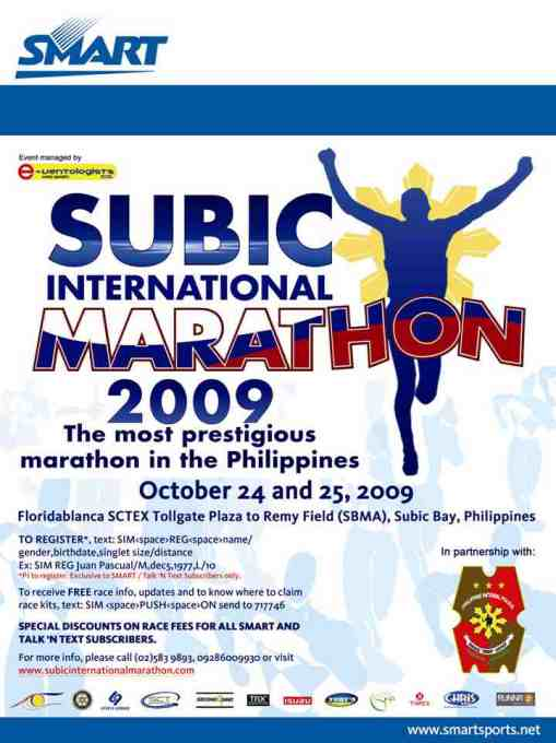 SMART 2nd Subic International Marathon Poster
