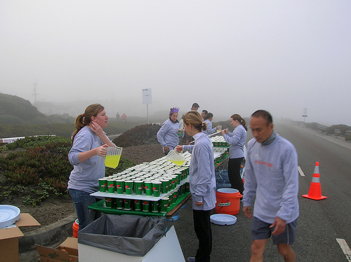 A Well-Stocked Water Station (Courtesy of Rick Gaston)