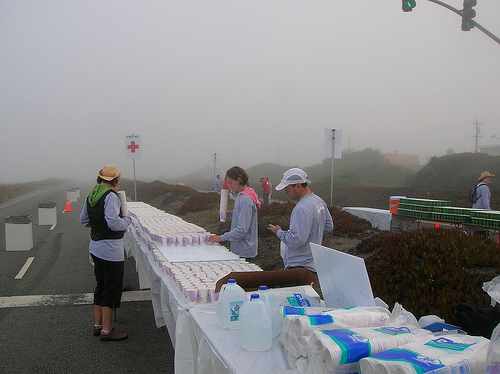 NIKE Marathon Water Station (Courstesy of Rick Gaston)