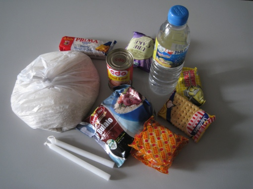 Contents of One Bag of Relief Goods