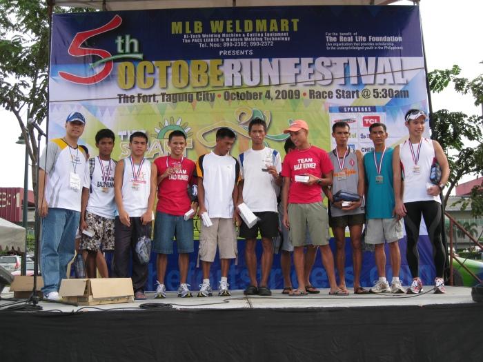 Podium Finish For the 16K Runners & Elite Team Bald Runner