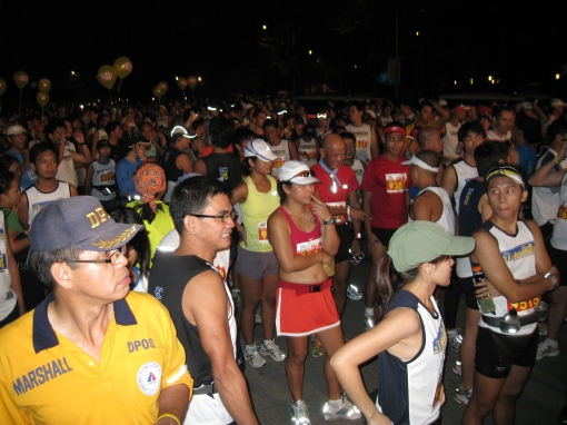 The Crowd & Runners of the Half-Marathon Race