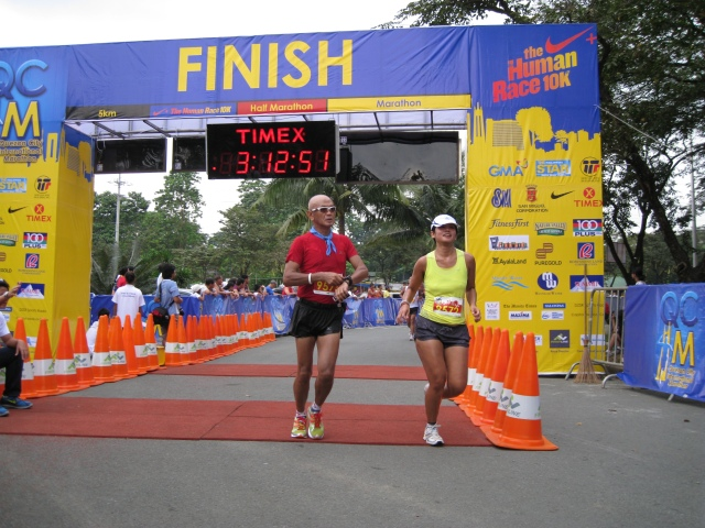 Passing The Finish Line After 2:42+ Hours