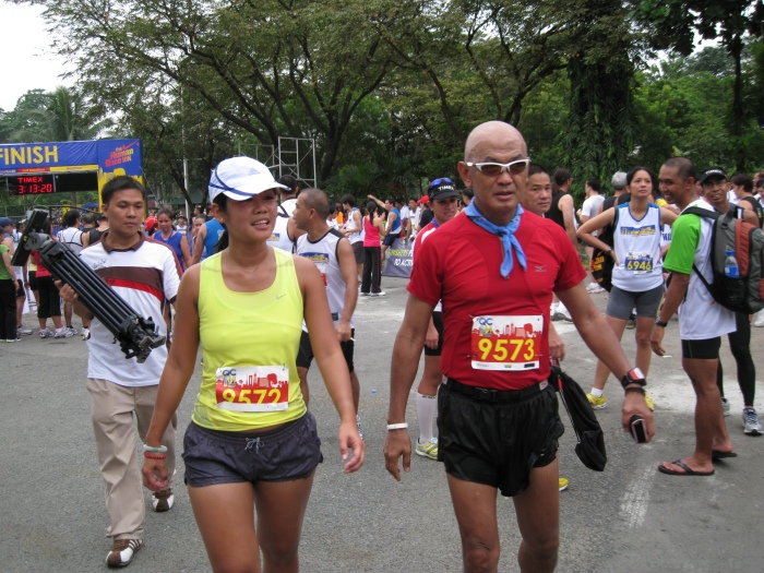 Walking Towards The Awarding Of Finisher's Medals