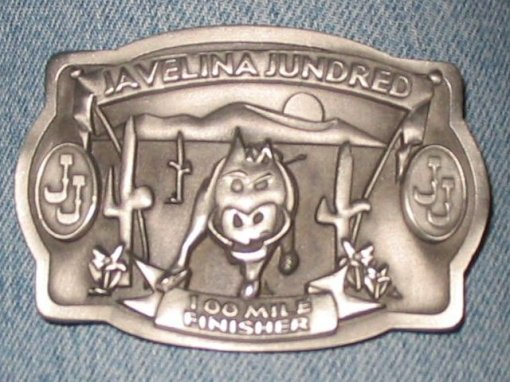 Javelina Jundred 100-Mile Finisher's Buckle