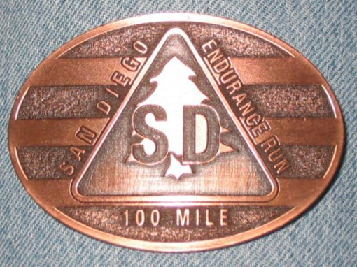 San Diego 100-Mile Run Finisher's Buckle