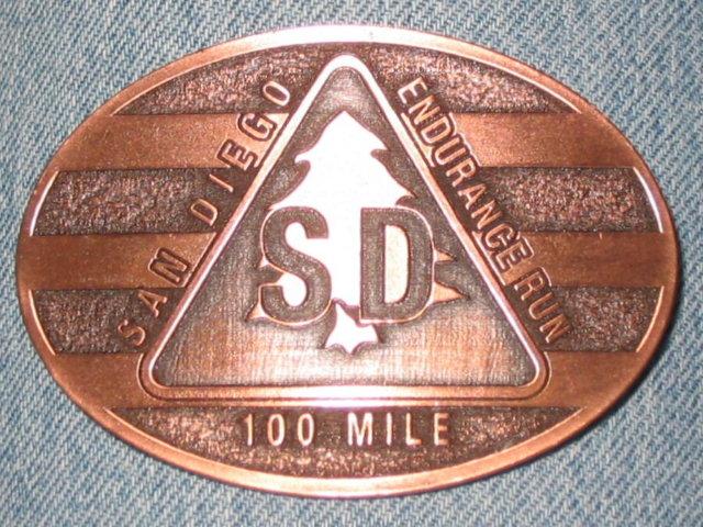 San Diego 100-Mile Run Finisher's Buckle