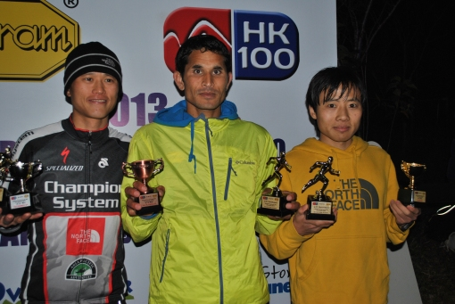 From Right: Yun Yan Qiao, Champion; Ram Kumar Khatri, 3rd Place; Stone Tsang, 2nd Place
