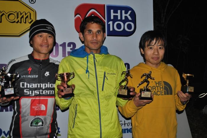 From Right: Yun Yan Qiao, Champion; Ram Kumar Khatri, 3rd Place; Stone Tsang, 2nd Place