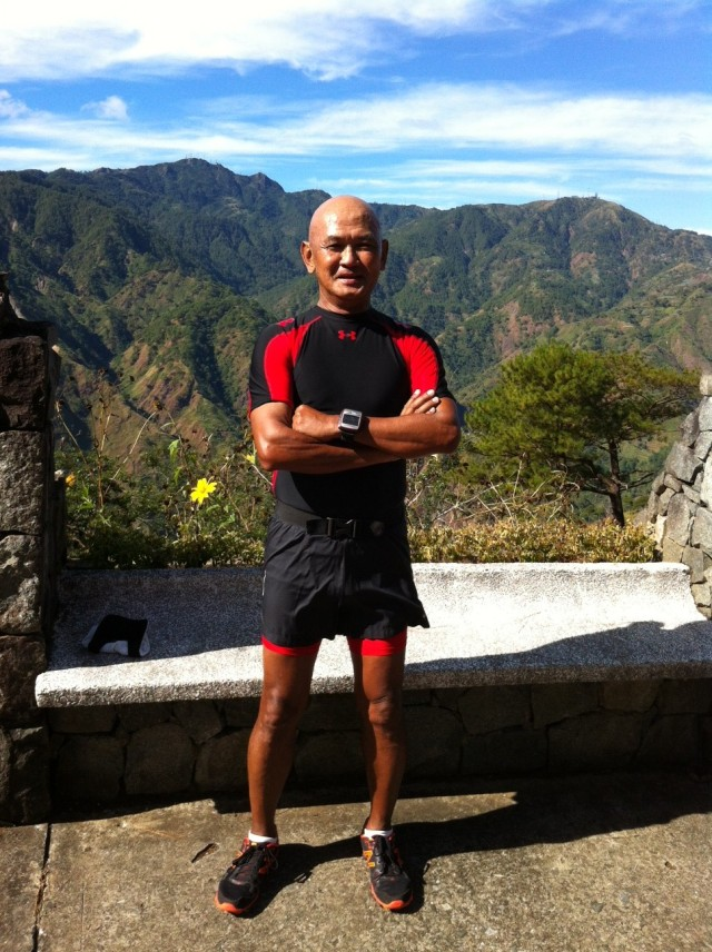 """At """"The Slope"""" With Mts. Santo Tomas & Cabuyao As Background"""