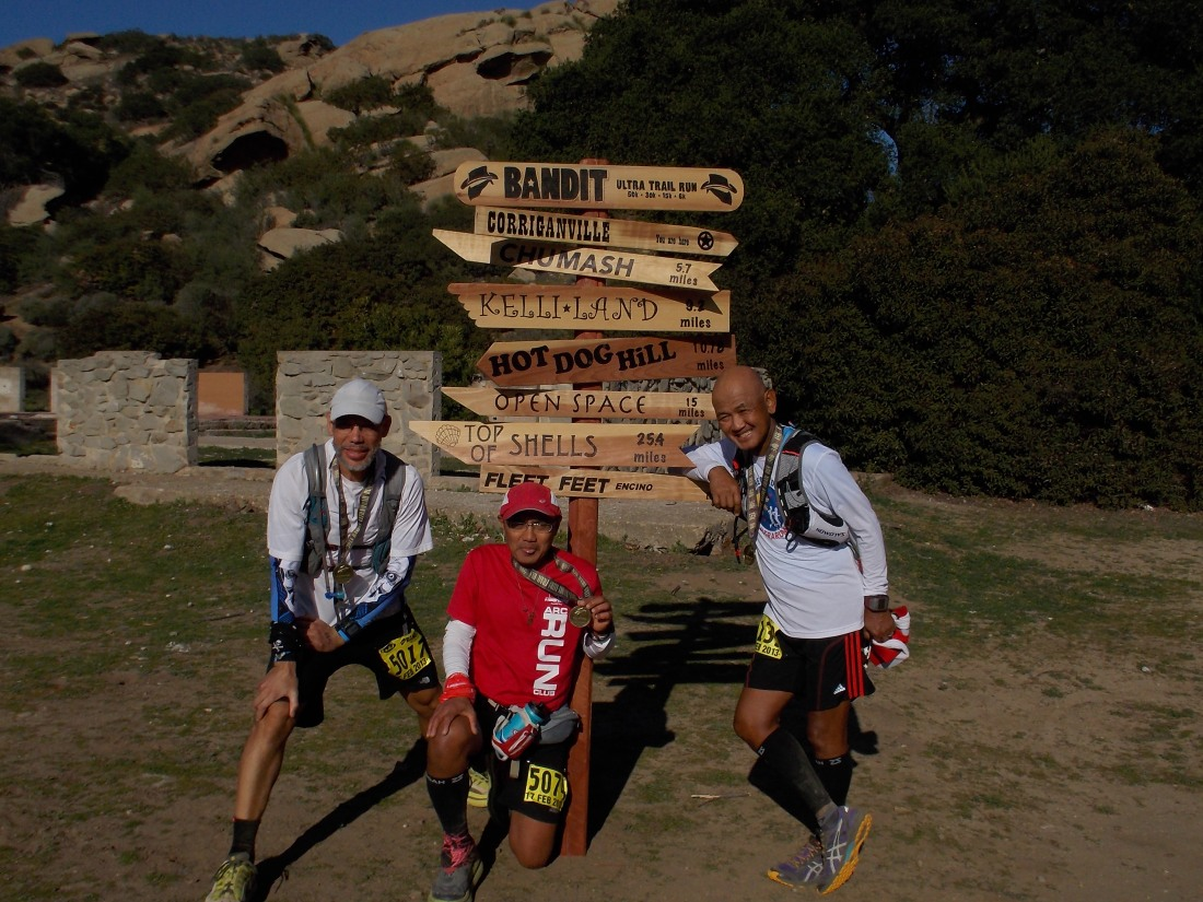 Tres Bandidos With Their Finisher's Medals