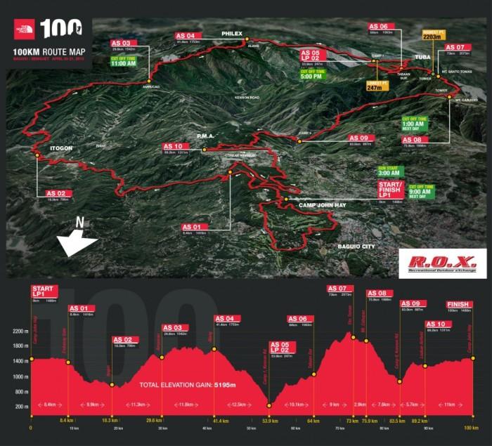 2013 TNF 100 Race Route