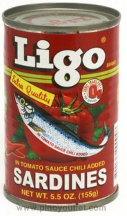 Ligo Canned Sardines @ P13.00 Per Can