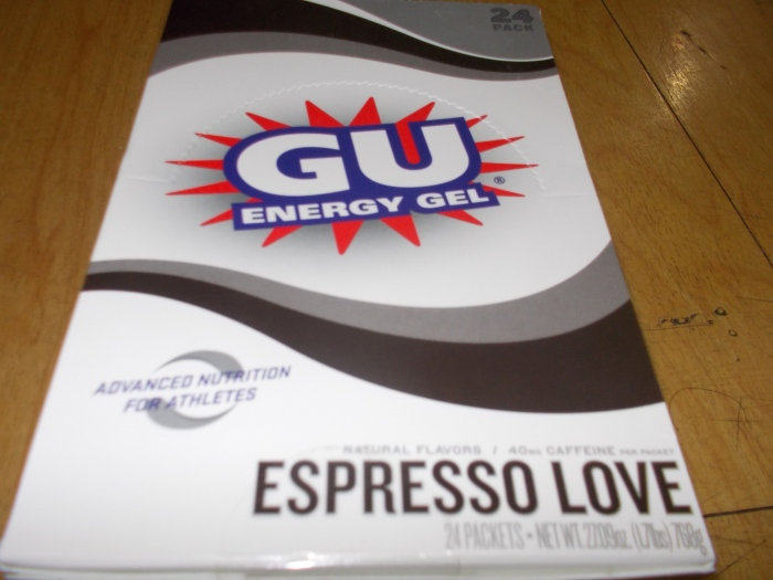 One Box Of GU Gel (The Thing You Could See On Top Of The Box)