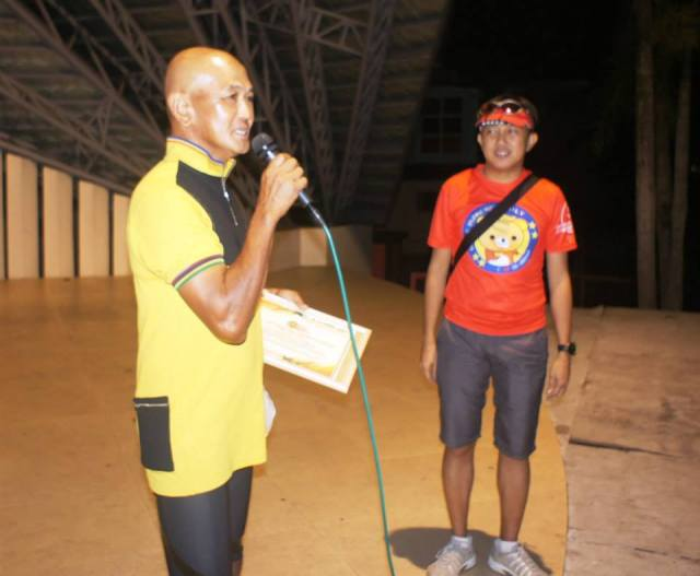 Delivering A Short Remarks After Giving Me A Certificate Of Appreciation (With OK OK Head, Joseph Pineda)