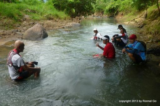 My Position With The Group In The River