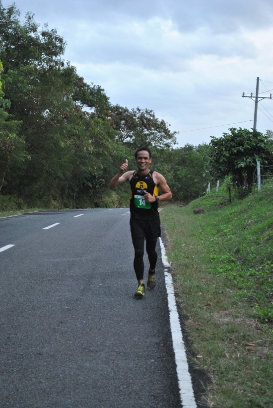 Leading Runner JC Igos @ Kilometer #15