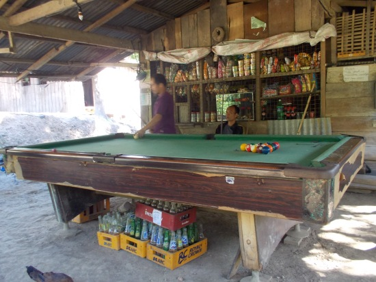 Billiard Table In A Store