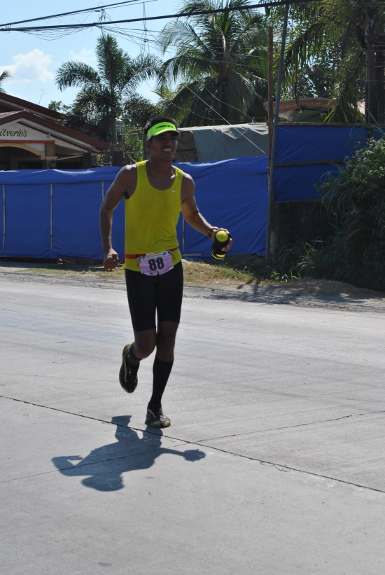 Alfred Delos Reyes Arriving At The Finish Line On the 2nd Leg