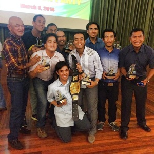 BR & 9 PAU Grand Slam Awardees. Raffy Gabotero was not in the picture. (Photo Courtesy of Bong Alindada)