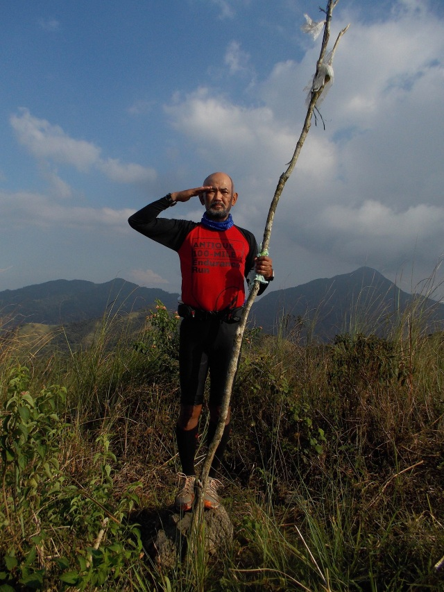 Finally, A Pose At The Peak With Mt Natib In The Background