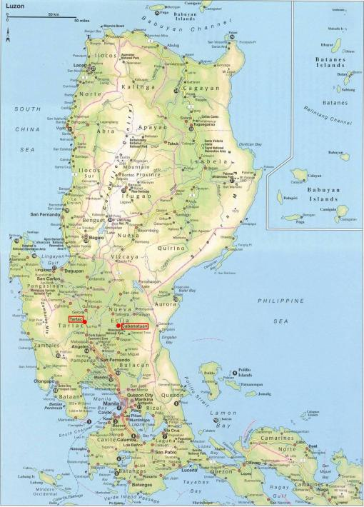 Map Of Luzon, Philippines