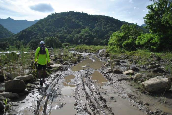 Muddy Trail During The Rainy Season