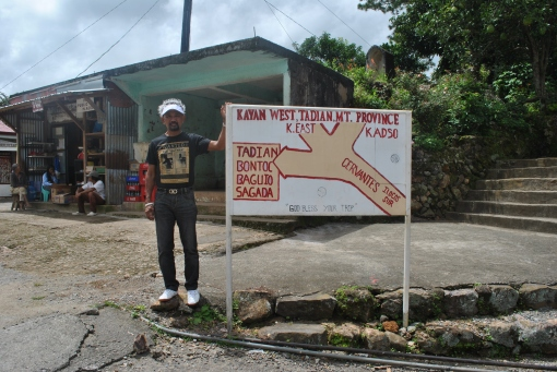 The First Critical Intersection From Cervantes To Bontoc, Mt Province