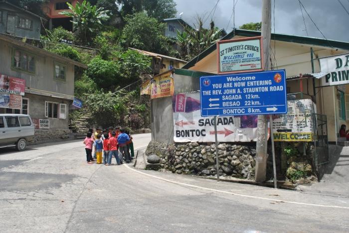 Road Intersection To Sagada