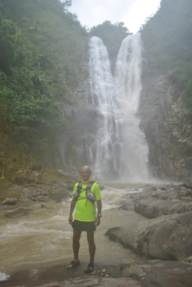 One Of The Numerous Pictures Taken With Miyamit Falls As My Background (Picture Taken During A Typhoon)