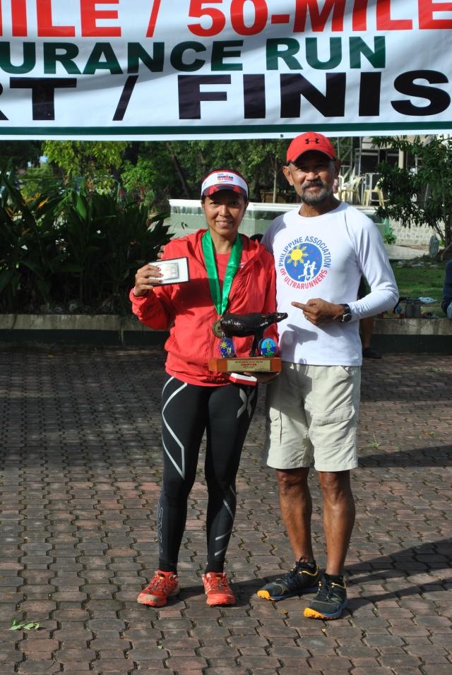 First Female Champion & Course Record Holder Tess Leono