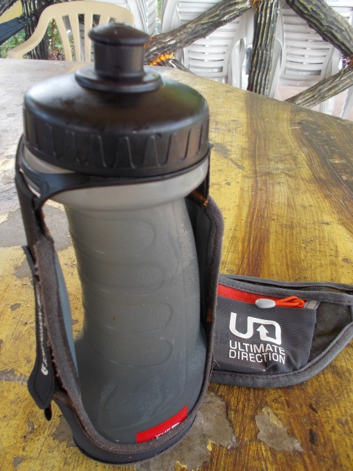 TNF Hand-held Water Bottle & Ultimate Direction (SJ) Race Belt