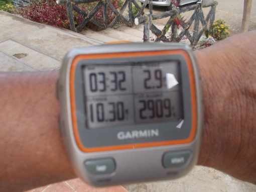 Total Mileage, Time, & Vertical Gain Of My 3X Hill Repeats @ Taklang Damulag