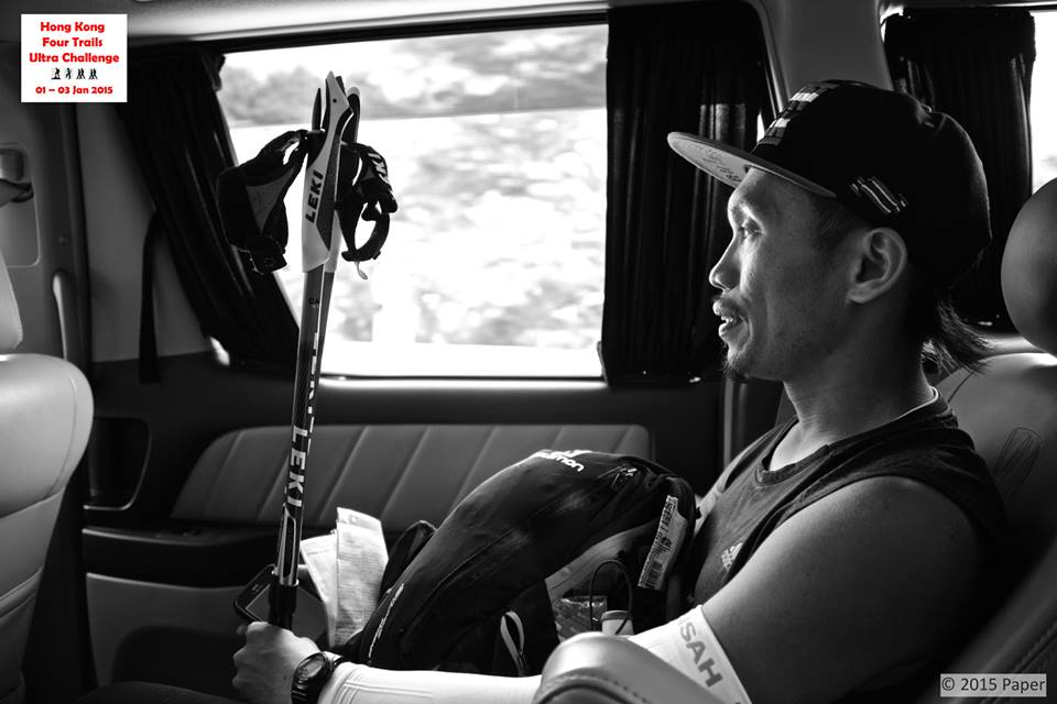 Jag Aboard A Van As Transition From One Leg To Another