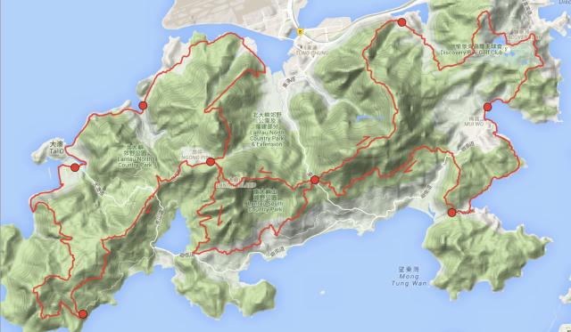 Map Of Lantau
