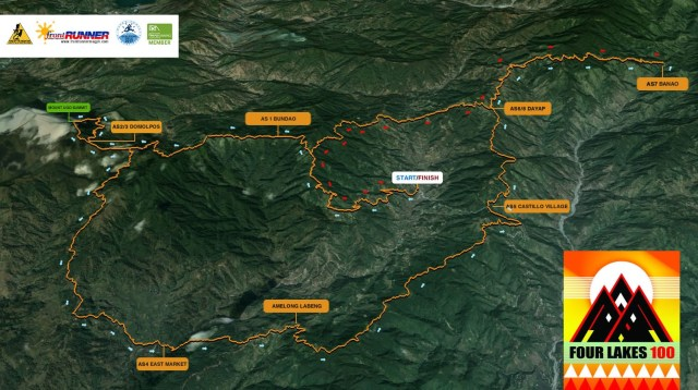 Four Lakes 100 Course Map