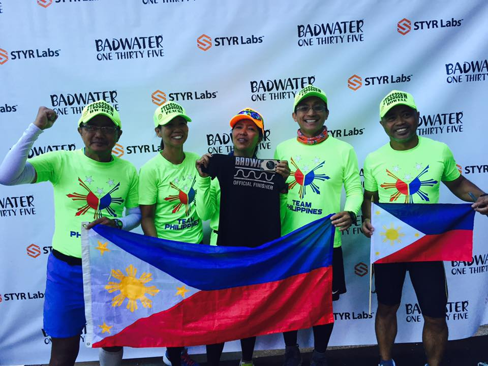 Team Tess Leono At The Finish Line (Photo Courtesy of Rowell Ramos)