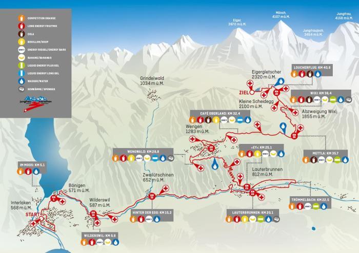 Jungfrau Marathon Route